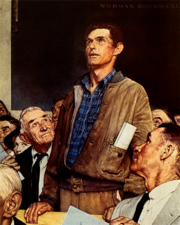 """norman rockwells freedom of speech Courtesy of the norman rockwell museum and the new york historical   norman rockwell, freedom of speech, from the """"four freedoms""""."""
